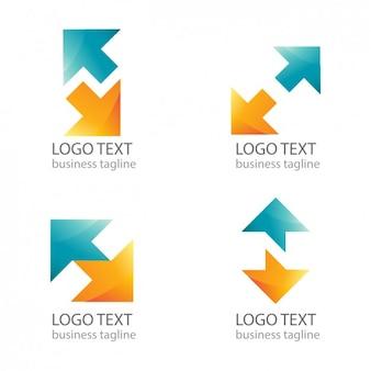 Nowoczesne strzałki logo