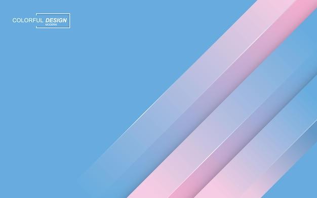 Nowoczesne, stylowe tło w kolorze niebieskim i różowym