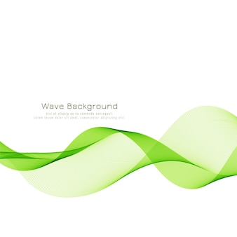 Nowoczesne, stylowe zielone tło fali