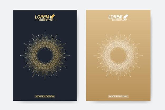 Nowoczesne szablony ilustracji broszury