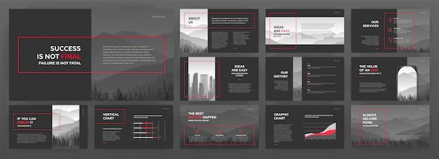 Nowoczesne szablony prezentacji dla biznesu i budownictwa