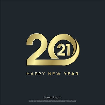 Nowoczesne szczęśliwego nowego roku 2021 tło.