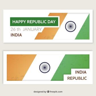 Nowoczesne szczęśliwy dzień republiki banery paczka