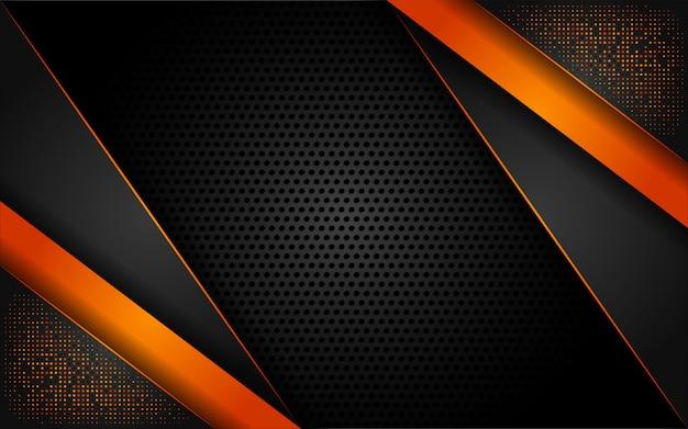 Nowoczesne tech brokat pomarańczowy tło z abstrakcyjnym stylu