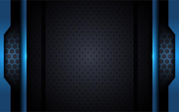 Nowoczesne tech niebieskim tle z abstrakcyjnym stylu