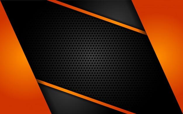 Nowoczesne tech pomarańczowe tło z abstrakcyjnym stylu