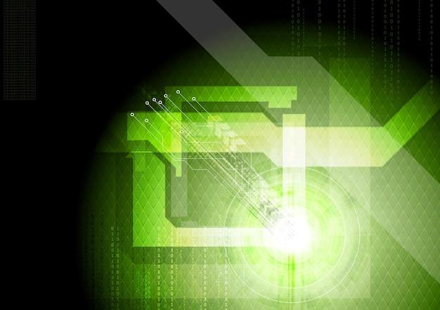 Nowoczesne techniczne zielone tło. wektor elegancki szablon projektu