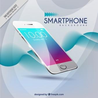 Nowoczesne tle fali smartphone
