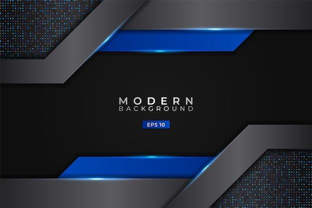 Nowoczesne tło abstrakcyjna futurystyczna technologia 3d realistyczne świecące niebieskie metaliczne