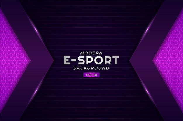 Nowoczesne tło do gier e-sportowych świecąca strzałka fioletowa futurystyczna technologia premium stream