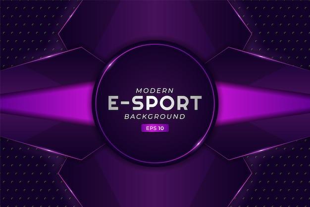 Nowoczesne tło do gier e-sportowych świecące fioletowo futurystyczna technologia przesyłania strumieniowego