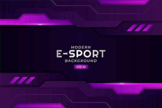 Nowoczesne tło do gier e-sportowych świecące fioletowo futurystyczna technologia strumieniowa premium
