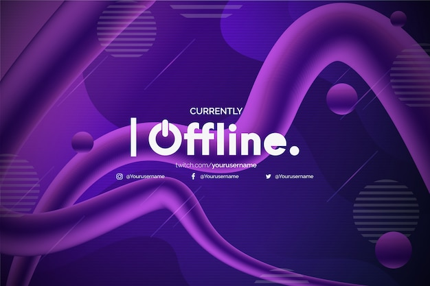 Nowoczesne tło drgań offline