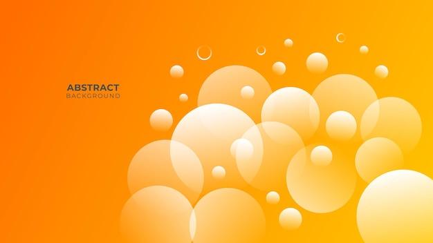 Nowoczesne tło geometryczne. pomarańczowe elementy z płynnym gradientem. dynamiczna kompozycja kształtów