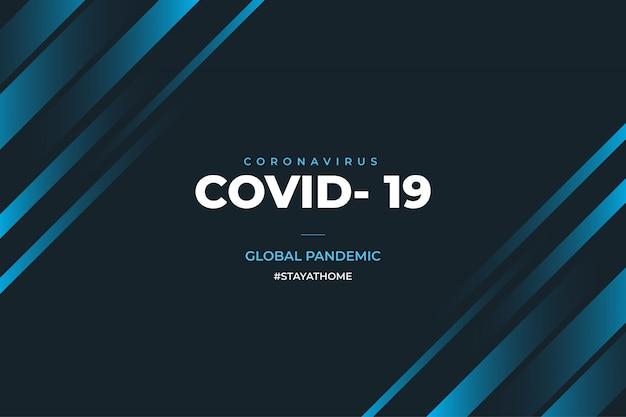 Nowoczesne tło informacyjne covid-19 z hasthtag