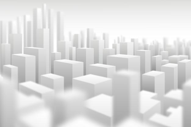 Nowoczesne tło miasta 3d