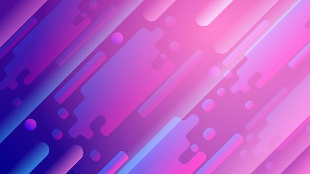 Nowoczesne tło niebieski różowy minimalne tło geometryczne dynamiczne kształty