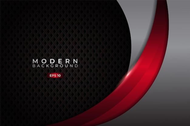 Nowoczesne tło premium dynamic nałożone z eleganckim metalicznym świecącym czerwonym i srebrnym