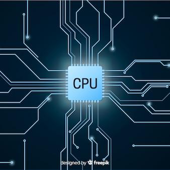 Nowoczesne tło procesora w stylu gradientu