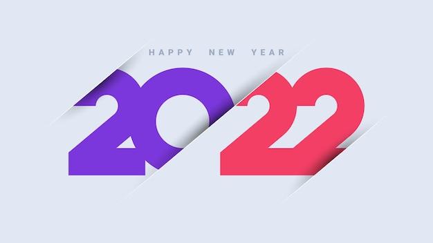Nowoczesne tło szczęśliwego nowego roku 2022