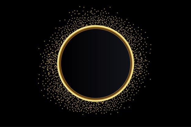 Nowoczesne tło transparentu złotego brokatu