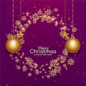 Nowoczesne tło uroczystości wesołych świąt bożego narodzenia