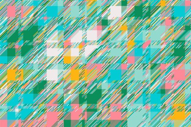 Nowoczesne tło usterki. kolor geometryczny abstrakcyjny wzór wektor. linie uszkodzeń powodują efekt tapety. plaid grunge tekstury.