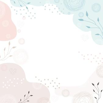 Nowoczesne tło z abstrakcyjnymi kształtami i liśćmi