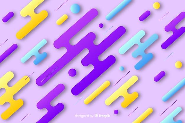 Nowoczesne tło z gradientowymi kształtami dynamicznymi