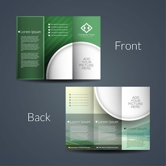 Nowoczesne trifold projekt broszury
