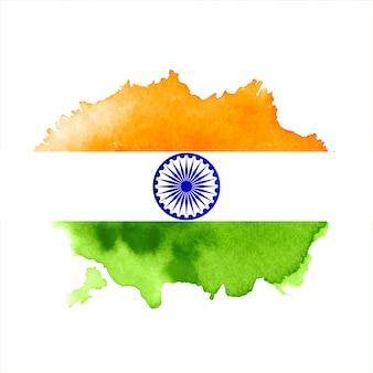 Nowoczesne trójkolorowe tło flagi indii