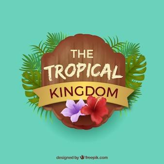 Nowoczesne tropikalne tło z realistycznym wystrojem