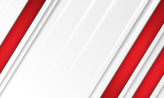 Nowoczesne wektor streszczenie czerwone i złote paski na białym tle. elegancki szablon koncepcyjny projektu wektorowego dla ramki, okładki, banera, użycia karty