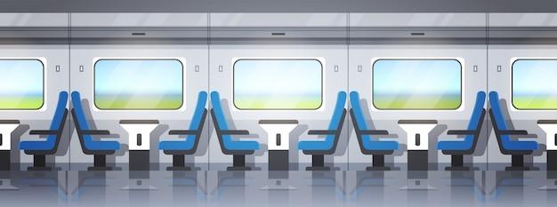 Nowoczesne wnętrze pociągu ekspresowego