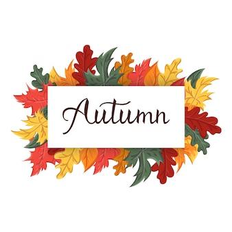 Nowoczesne wyrażenie fraza jesień.