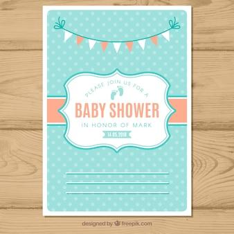 Nowoczesne zaproszenie na baby shower