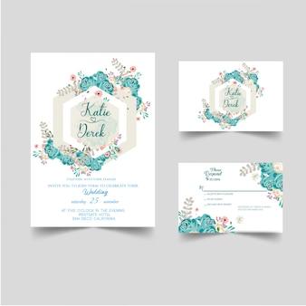 Nowoczesne zaproszenie na ślub