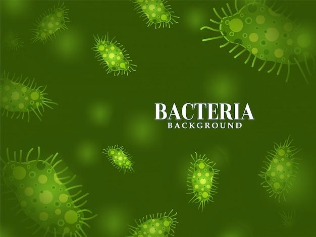 Nowoczesne zielone bakterie tło