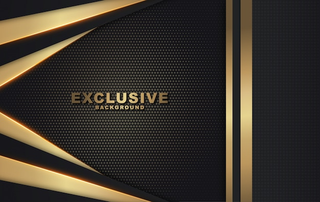 Nowoczesne złote i czarne luksusowe tło