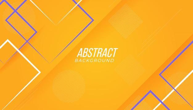 Nowoczesne, żółte i fioletowe kolorowe abstrakcyjne gry geometryczne