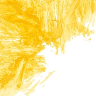 Nowoczesne żółte tło akwarela