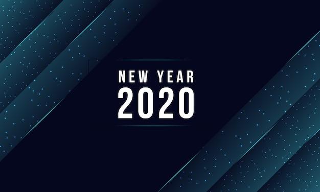 Nowoczesny 2020 nowy rok streszczenie kartkę z życzeniami