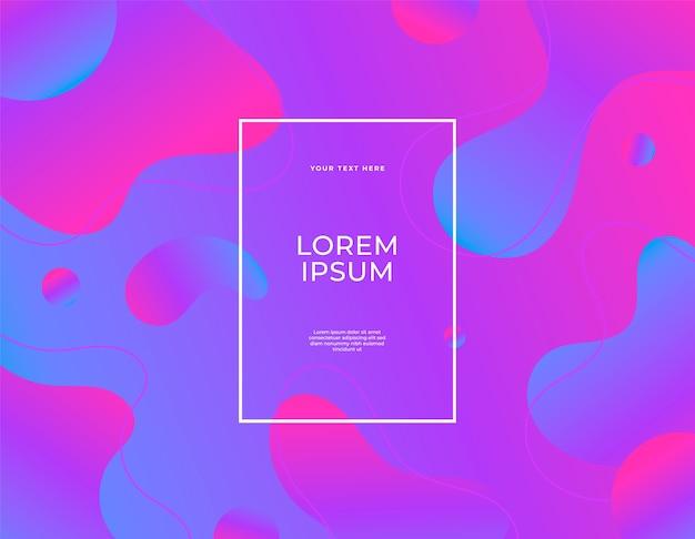 Nowoczesny abstrakcyjny baner zestaw płynnych kropelek kształtuje kolory ultrafioletowe tła.