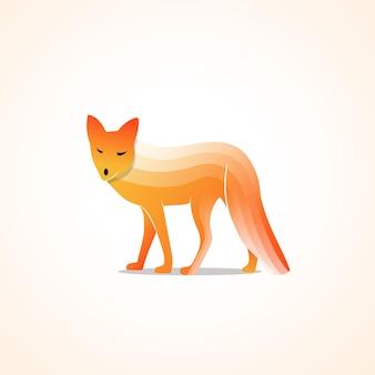 Nowoczesny abstrakcyjny czerwony lis ilustracja premium vector