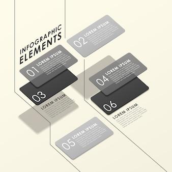 Nowoczesny abstrakcyjny przezroczysty szablon elementów infografiki tagów