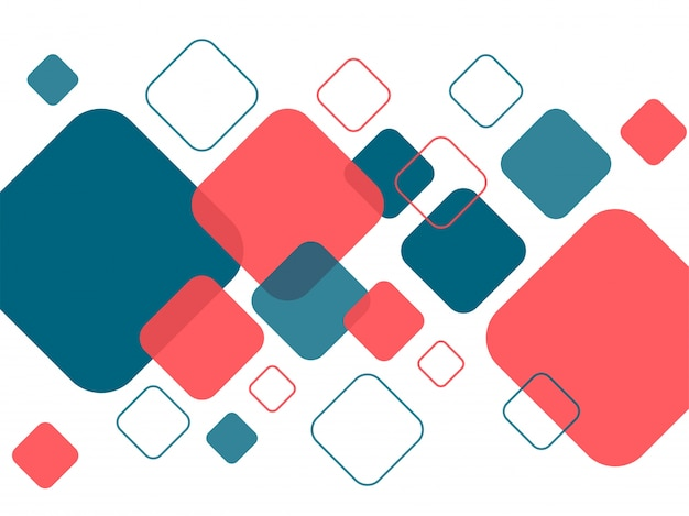 Nowoczesny abstrakcyjny wzór z elementami kwadratów geometrycznych.
