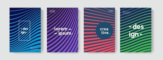 Nowoczesny abstrakcyjny wzór z liniową teksturą na broszury, okładki, plakaty, banery, ulotki.