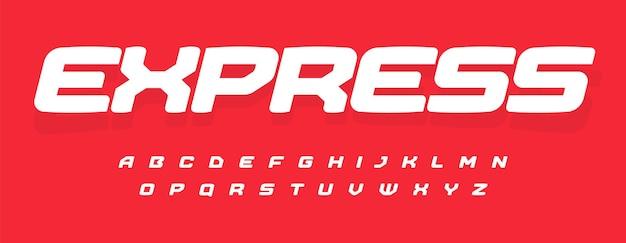 Nowoczesny alfabet do sportów dostawczych lub niesamowita czcionka motoryzacyjna do nowoczesnego dynamicznego nagłówka logo