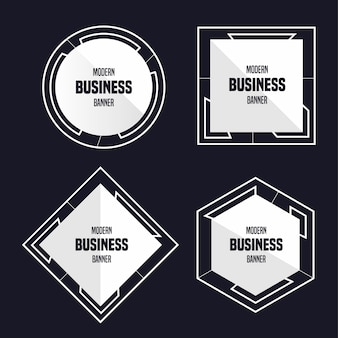 Nowoczesny baner biznesowy