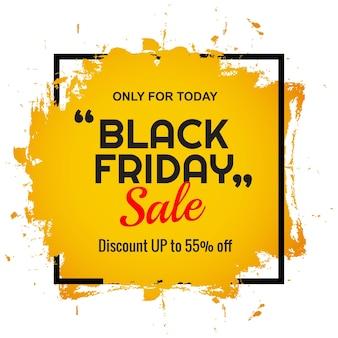 Nowoczesny baner oferty sprzedaży w czarny piątek